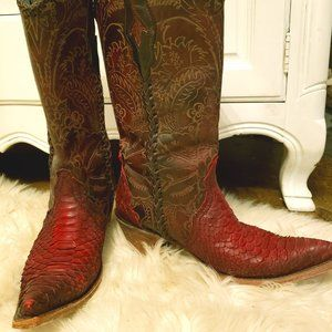 Corral Snakeskin Vintage Boots
